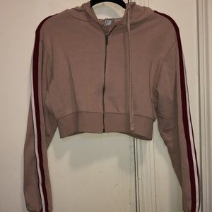 Forever 21 Cropped Hoodie Jacket